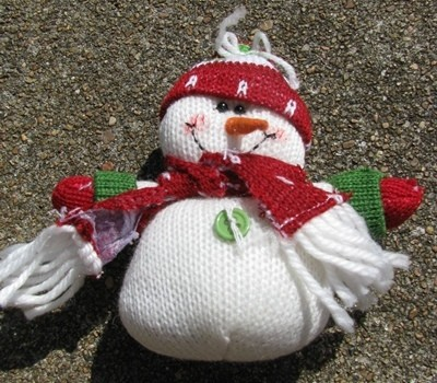 Snowman 52774RGH - Red Hat Snowman Ornament