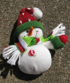 52774RWH - Red Hat Snowman Ornament