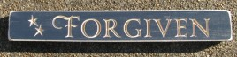 528F - Forgiven engraved wood Block