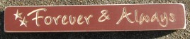531Fa- Forever & Always engraved wood block