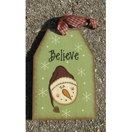 Wooden Christmas 55853 Snowman Tag