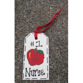Teacher Gifts  #1 Nurse Wood Tag