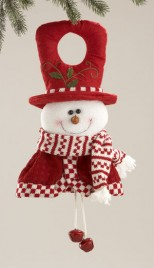 58161 Red White Snowman Doorknob