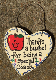 Teacher Gift  6016 Thanks a Bushel Special Coach