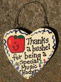Teacher Gift  6017 Thanks a Bushel for being a Special Music Teacher
