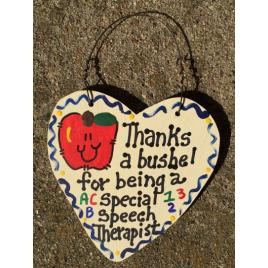 Speech Therapist Teacher Gift Thanks a Bushel 6019 Special Speech Therapist