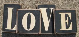 60653LB - Chunky Love Wood  Block