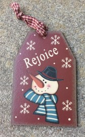 Wood Gift Tag 6090R - Rejoice