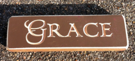 Primitive Engraved Wood  6409C Grace Block