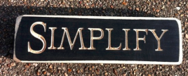 Primitive Engraved Wood Block 6421 - Simplify