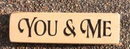 Primitive Engraved Wood Block 6424C You & Me