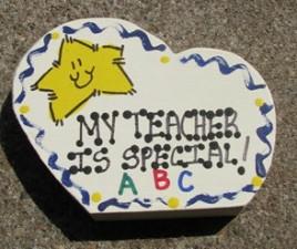 Teacher Gifts 69 My Teacher is Special  Wood Heart