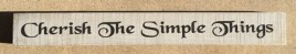 69024CT-Cherish the Simple Things Wood Block