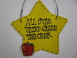 Teacher Gifts  7002 All Star Third Grade Teacher Handmade