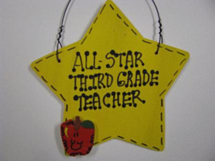 Teacher Gifts  7002 All Star Third Grade Teacher Handmade