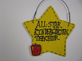 Teacher Gift 7004  All Star Kindergarten Teacher Handmade