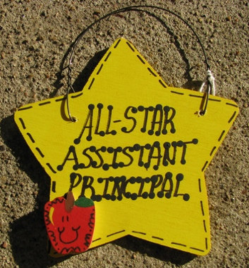 Teacher Gifts Yellow Star 7009 All Star Assistant Principal