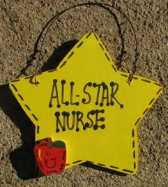 Teacher Nurse Gifts Yellow 7011 All Star Nurse