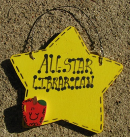 Teacher Gifts 7013  All Star Librarian