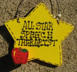 Teacher Speech Therapist  Gifts Yellow 7020 All Star Speech Therapist