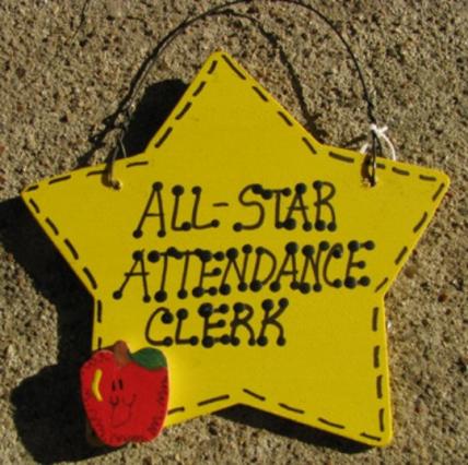 Attendance Clerk Teacher Gifts 7027 All Star Attendance Clerk