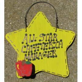 Cafeteria Manager Gifts Yellow 7042 All Star Cafeteria Manager