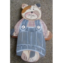 Country Crafts  709CBB-Cat Blue Boy Shelf Sitter