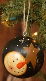 7D3961-Snowman & Star Ball