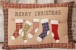 7P5748-Merry Christmas Stocking Pillow