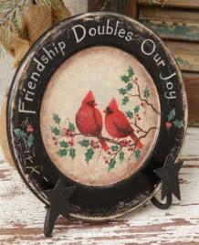 7W1460-Friendship Doubles Our Joy Wood Plate