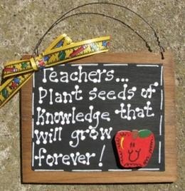 Teacher Gift 80 Teacher Plant Seeds of knokwledge that will grow forever Teacher Slate