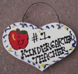 Teacher Gifts  804 Kindergarten Teacher Wood Teacher Heart