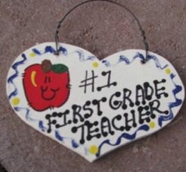 Teacher Gifts  805 First Grade Teacher Wood Teacher Heart