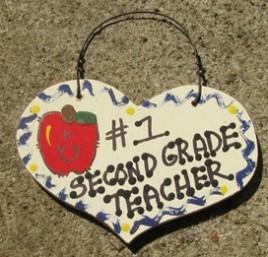 Teacher Gifts  806 Second Grade Teacher Wood Teacher Heart