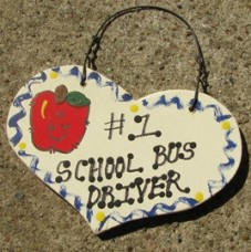 Teacher Gifts Number One 815 School Bus Driver Heart Handmade