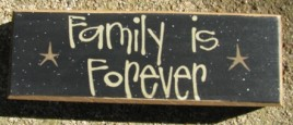 82192F - Family is Forever wood block