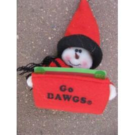 82221D  Georgia Bulldog Gift card Holder