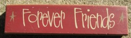 82249R - Forever Friends wood block