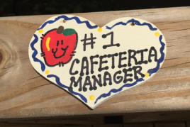 Teacher Gifts Number One 834 Cafeteria Manager Heart