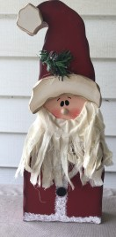 8350 - Standing wood Santa with Beard