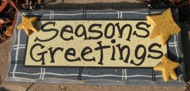 8651B - seasons greetings wood sign