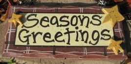 8651M - seasons greetings wood sign