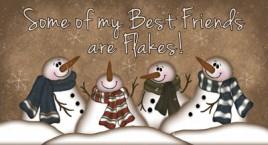 873SBF- Snowman Best Friends Wood Block