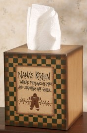 Primitive Tissue Box Paper Mache' 8TB2504 - Nana's Kitchen