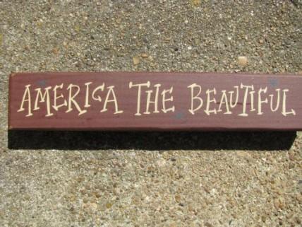 M9001ATB - America the Beautiful wood block