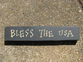 M9001BTU -Bless the USA wood block