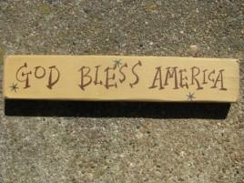 M9001GBA - God Bless America wood block