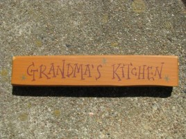 9002GK - Grandma's Kitchen Wood Block