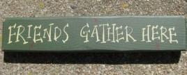 M9002FGH - Friends Gather Here Wood block