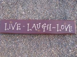 9004LLL-Live Laugh Love Block wood block